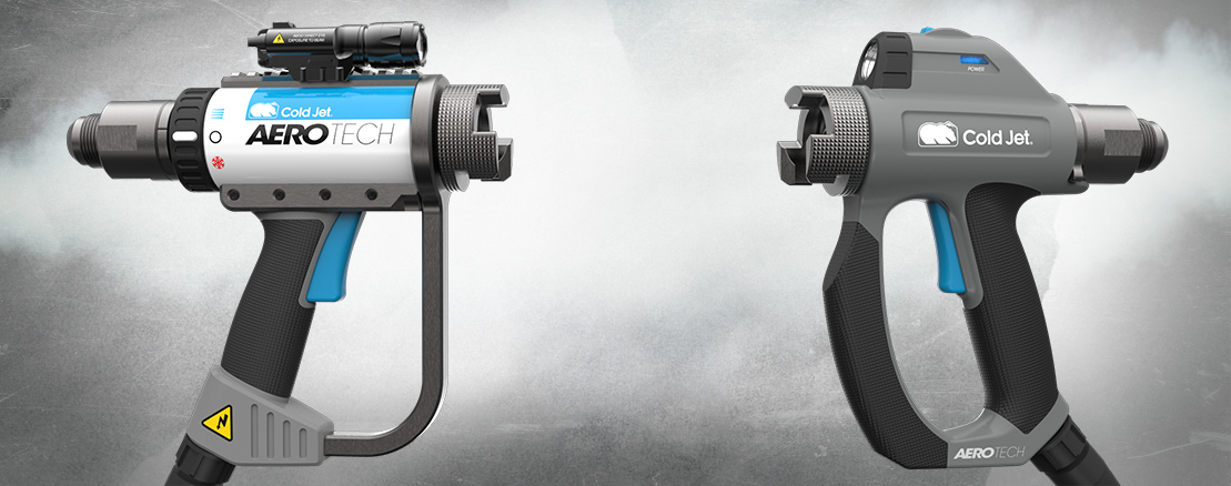 Two product concepts for the updated Coldjet Dry Ice Blaster